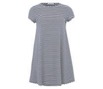 Jerseykleid im A-Linien-Schnitt navy / weiß