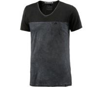 V-Shirt Herren graphit / schwarz