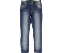 Nithor Straight Fit Jeans blau
