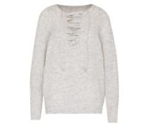 Pullover mit Schnürung grau