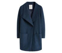 Mantel mit Wollanteil blau