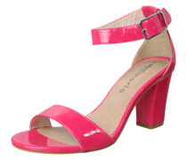 Sandalette in Lack-Optik fuchsia