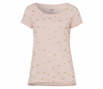 T-Shirt goldgelb / rosa