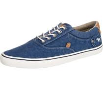 Sneaker zum Schnüren dunkelblau / braun / weiß