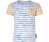 T-shirt Downing blau / orange / rot / weiß