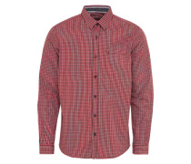 Casual Hemd 'Ray soft fil a fil check shirt' rot