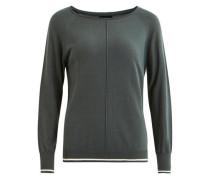 Strick Pullover grau / weiß