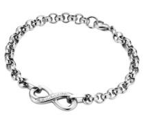 Armschmuck: Armband mit Infinity und Zirkonia silber