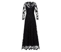 'Embroidered Evening Dress' schwarz