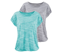 T-Shirts (2 Stck.) blau / grau