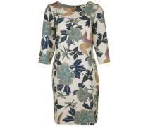 Kleid mit Blumenprint beige / mischfarben