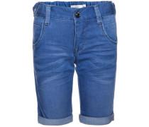 Slim-Jeansshorts 'nitclas' blau