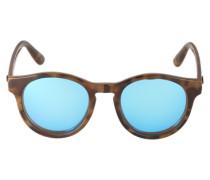 Runde Sonnenbrille 'Hey Macarena' blau / braun