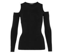 Cold-Shoulder-Pullover schwarz