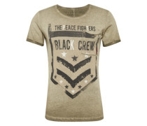 T-Shirt 'MT Crew round' khaki / schwarz