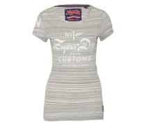 T-Shirt 'Circuit Tee' navy / weiß