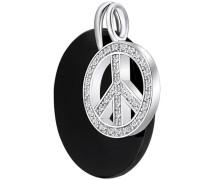 Anhänger Peace schwarz / silber
