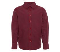 Hemd 'casual shirt' navy / weinrot