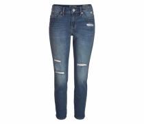 Destroyed-Jeans »Lynn« blue denim