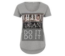 T-Shirt 'Sparkle' grau