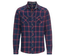 Hemd 'indigo Check Shirt' indigo / rot