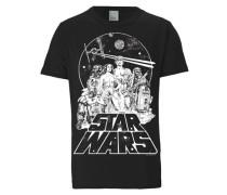 T-Shirt 'Krieg der Sterne' schwarz