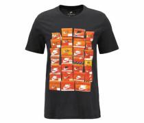 Rundhalsshirt 'men NSW TEE Vintage Shoebox' orange / schwarz
