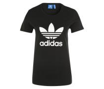 T-Shirt 'Trefoil' schwarz / weiß