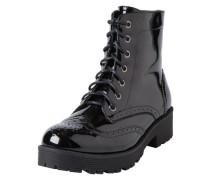 Patent-Schnür-Stiefel schwarz