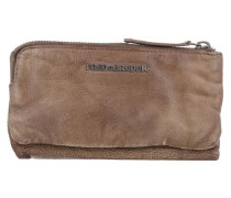 S.c. Wallet Lucky Geldbörse Leder 18 cm braun