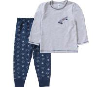 Schlafanzug für Jungen marine / grau