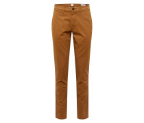 Hosen 'v-Essential Khaki Slim Fit' braun