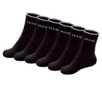 Sportsocken (6 Paar) schwarz