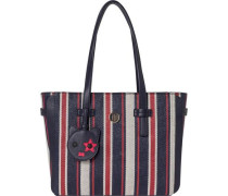Handtaschen »TH Mascot Tote Corp Stripe« marine / dunkelrot / weiß