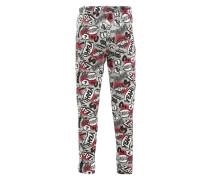 Leggings bedruckt für Mädchen grau / rot