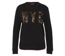 Sweatshirt mit Pailetten 'Nyc' schwarz