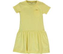 Nitvrapsi Kleid mit kurzen Ärmeln gelb
