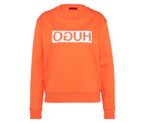 Sweatshirt 'Nicci' orange / weiß