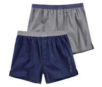 Boxershorts (2 Stück) blau / grau
