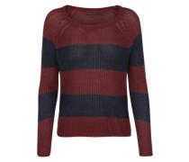Pullover 'onlCHAMPAGNE Stripe' navy / weinrot
