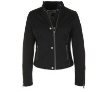 Outdoorjacke 'insulated Biker' schwarz