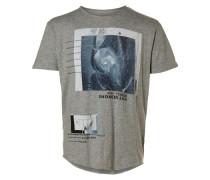 T-Shirt Bedrucktes grau