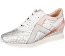 Sneakers rosa / silber / weiß