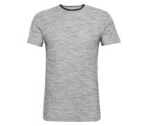 T-Shirt 'shhtheis SS O-Neck Tee' grau / weiß