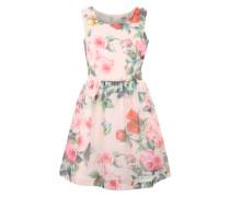 Kleid 'Woven' hellgrün / rosé
