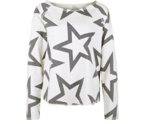Sweater 'devore Stars' anthrazit / wollweiß