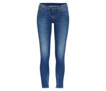 Schmale Jeans mit Ankle-Zipper 'Cher' blau