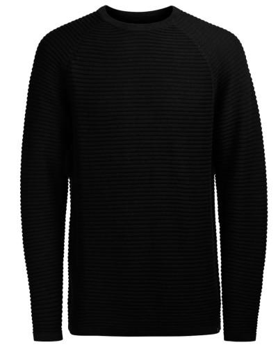 Pullover 'wind' schwarzmeliert
