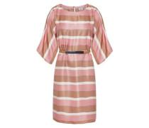 Kimono-Kleid mit Querstreifen mischfarben