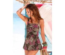 Badeanzug-Kleid braun